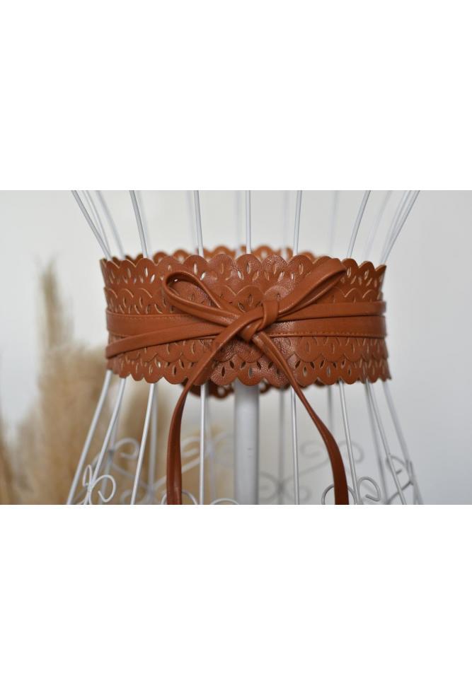 Della Lace Tie Belt
