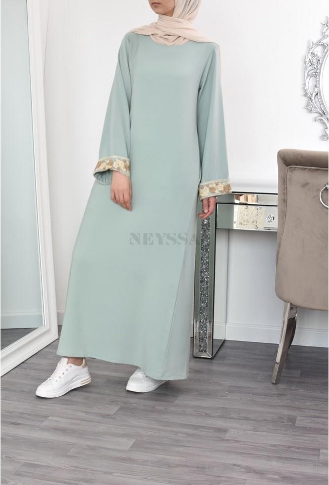 longue abaya fluide pas cher