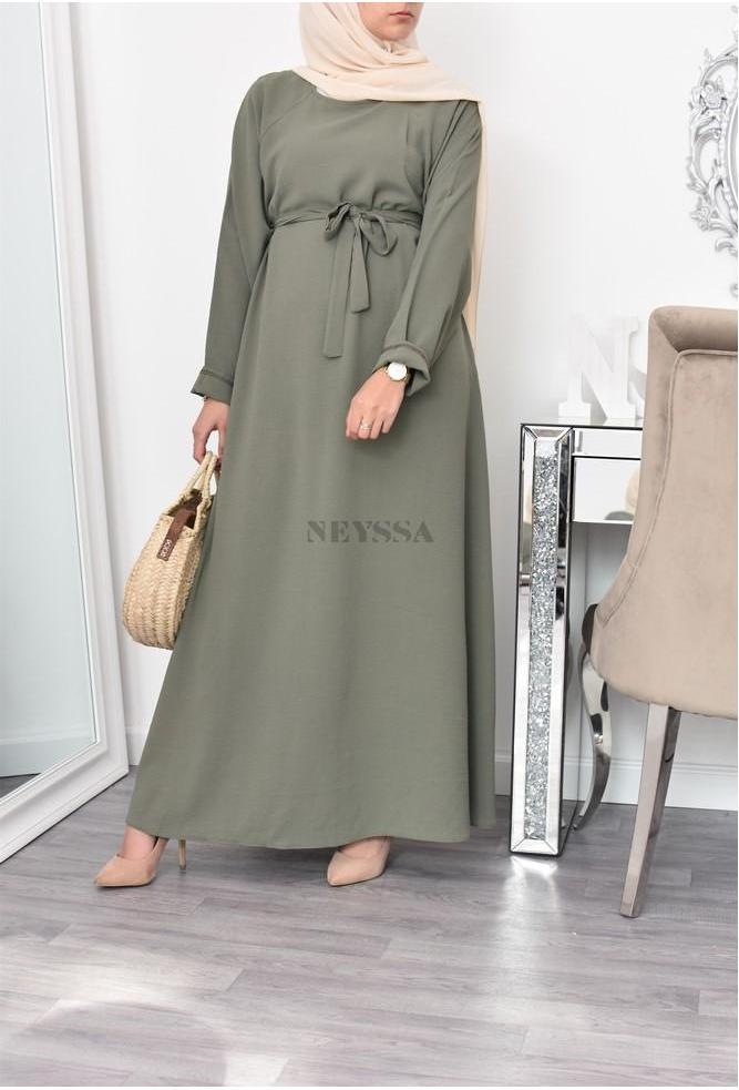Abaya femme longue évasée été