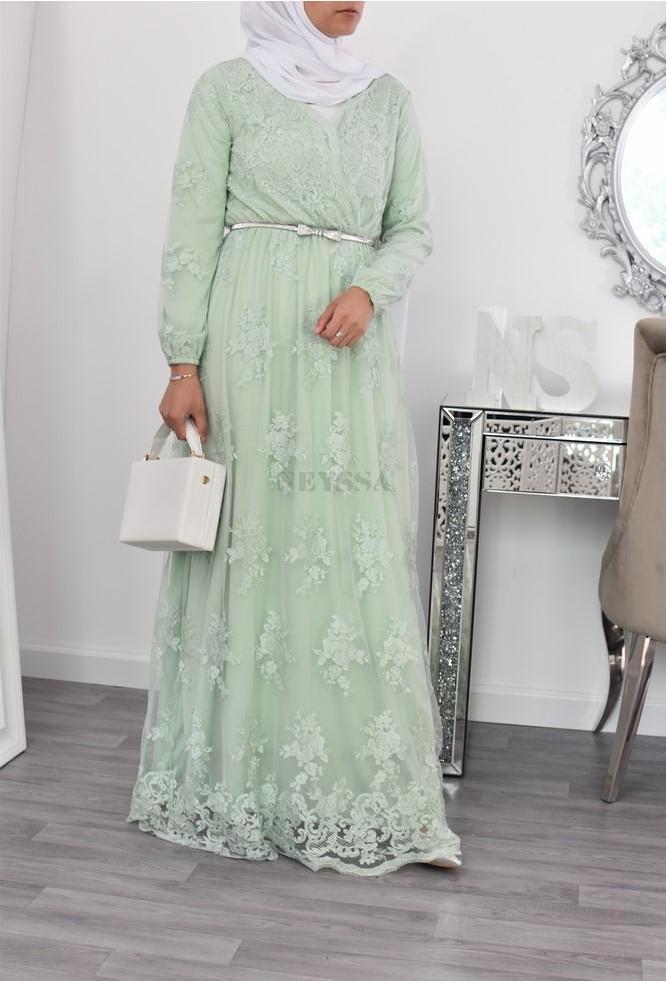 Robe Bianca Célébration VERT EAU