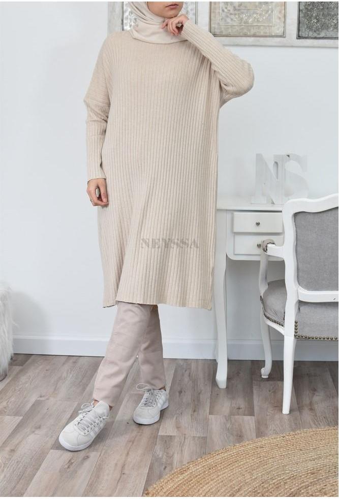 Tunic dress wool Saoudah