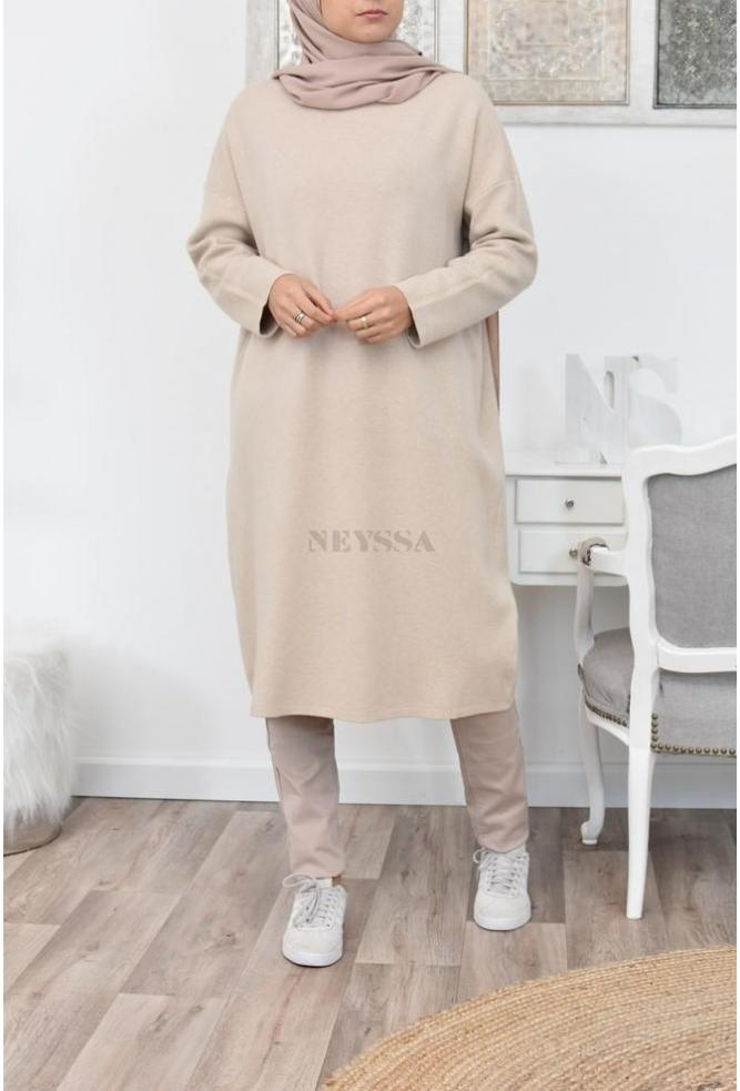 Robe Pull long mode islamique
