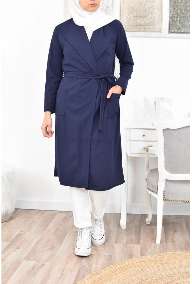 trench long pas cher femme hijab
