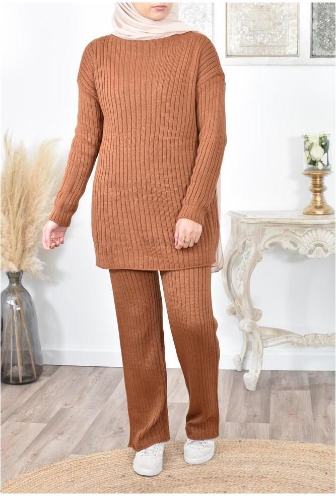 Ensemble tricot hver femme musulmane pas cher