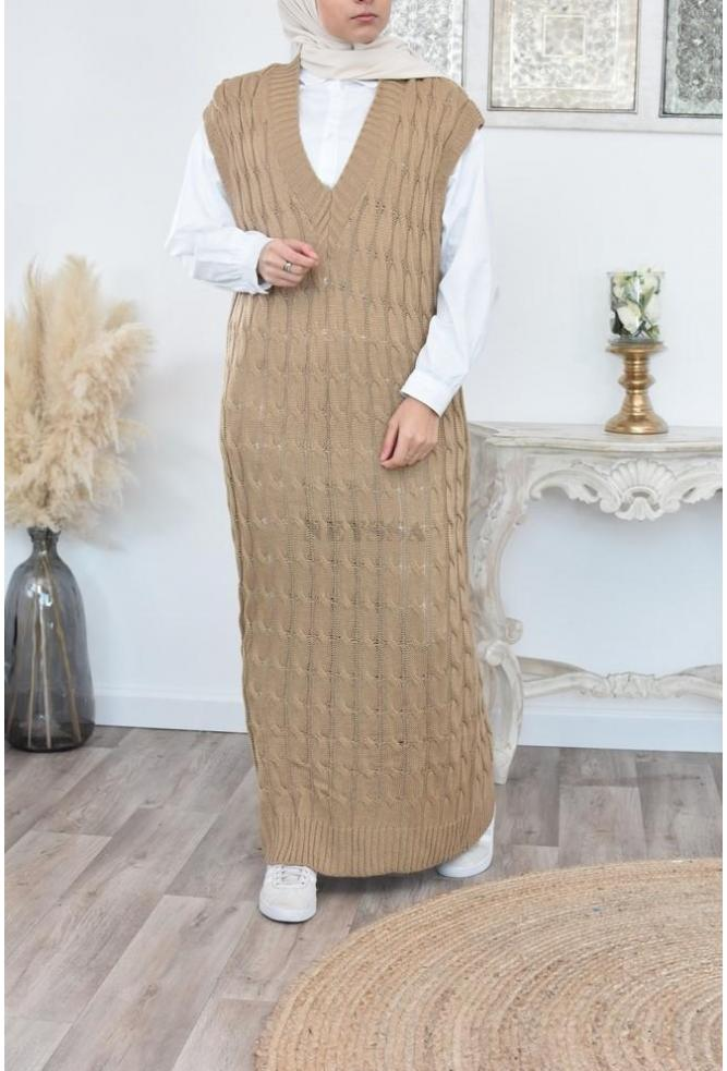 Long Dress sleevless veiled women