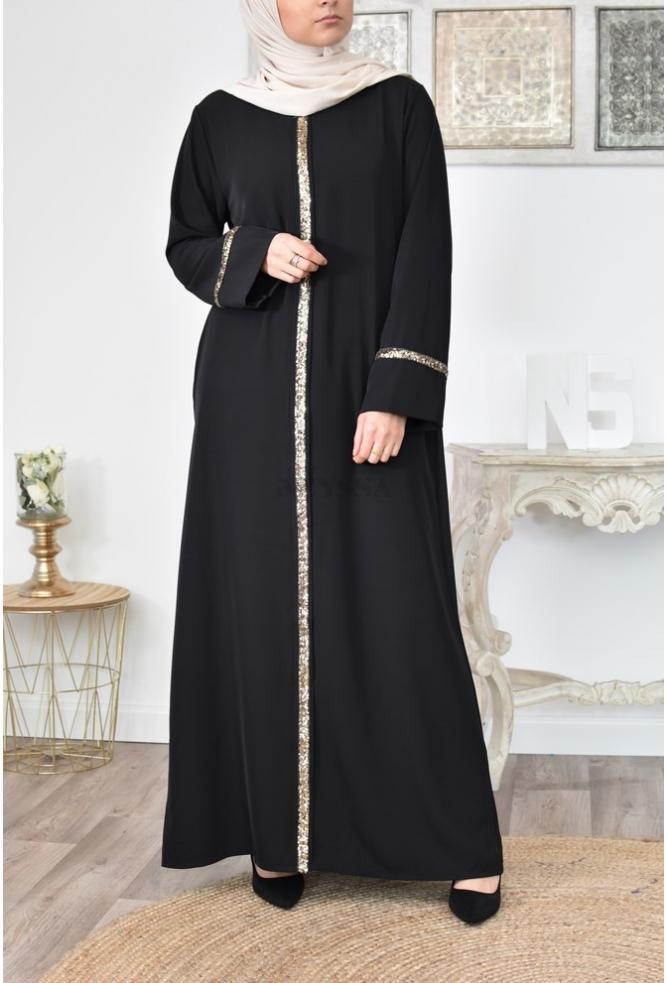 Robe Abaya longue parfaite pour l'Aïd