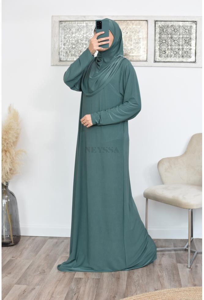 Robe de prière femme hijab intégré