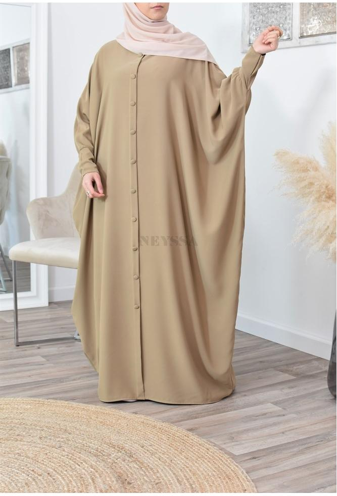 Abaya butterfly with buttons