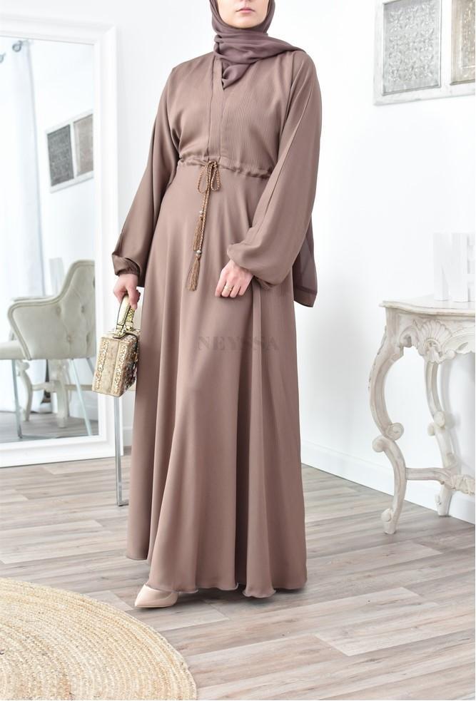 Abaya femme évasée fluide de Dubaï boutique en ligne