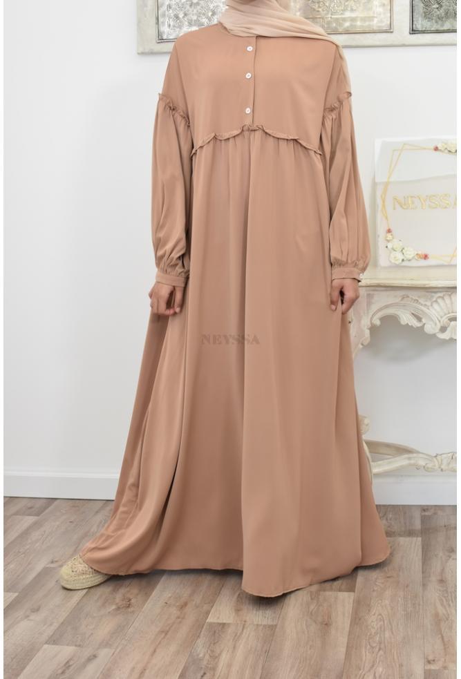 Abaya ample fluide légère cape jilbab