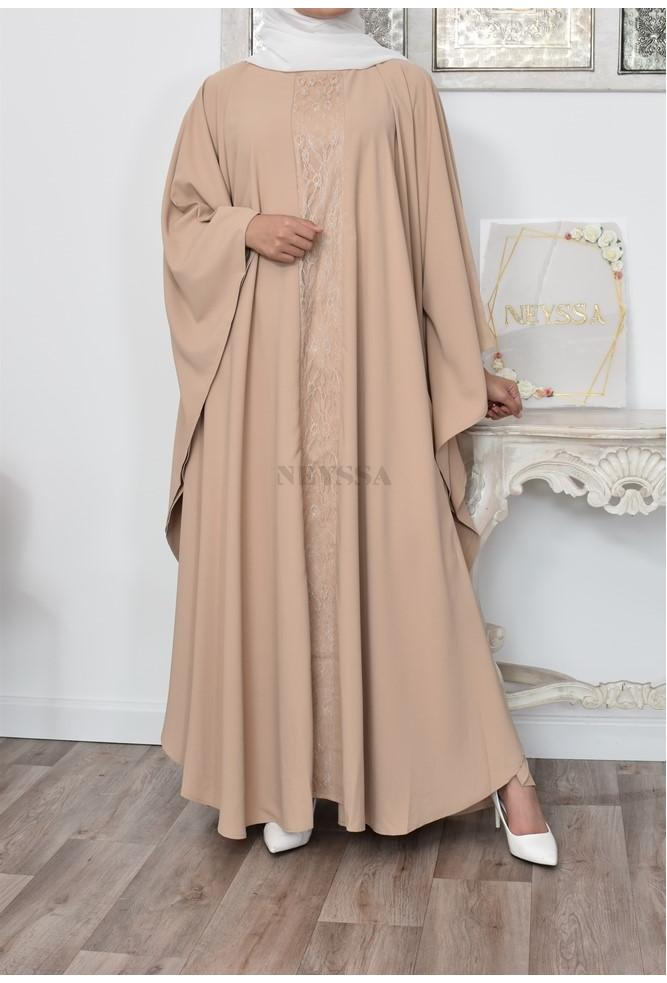 Flared butterfly dress for chic Muslim women
