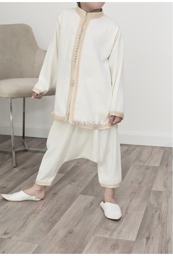 Boy's sarouel set off-white