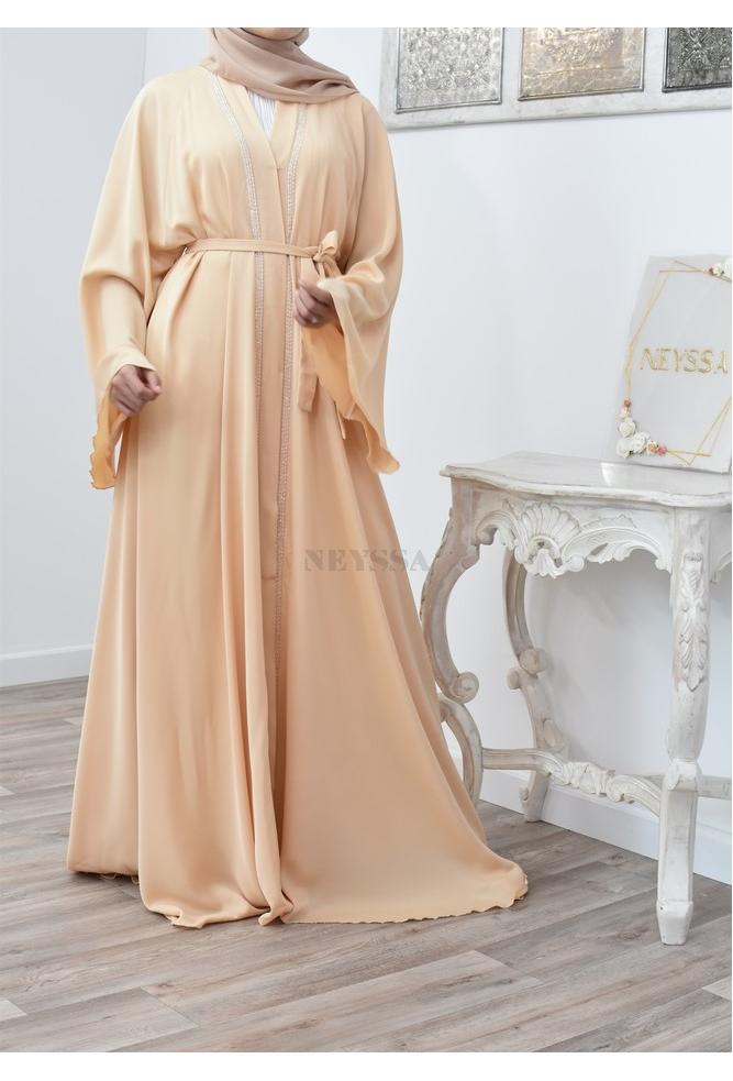 Abaya umbrella open women engagement outfit Eid 2021