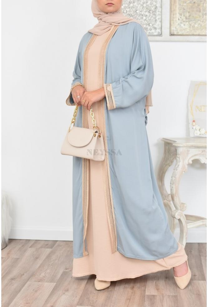 Long embroidered and ample Kimono perfect for modest woman