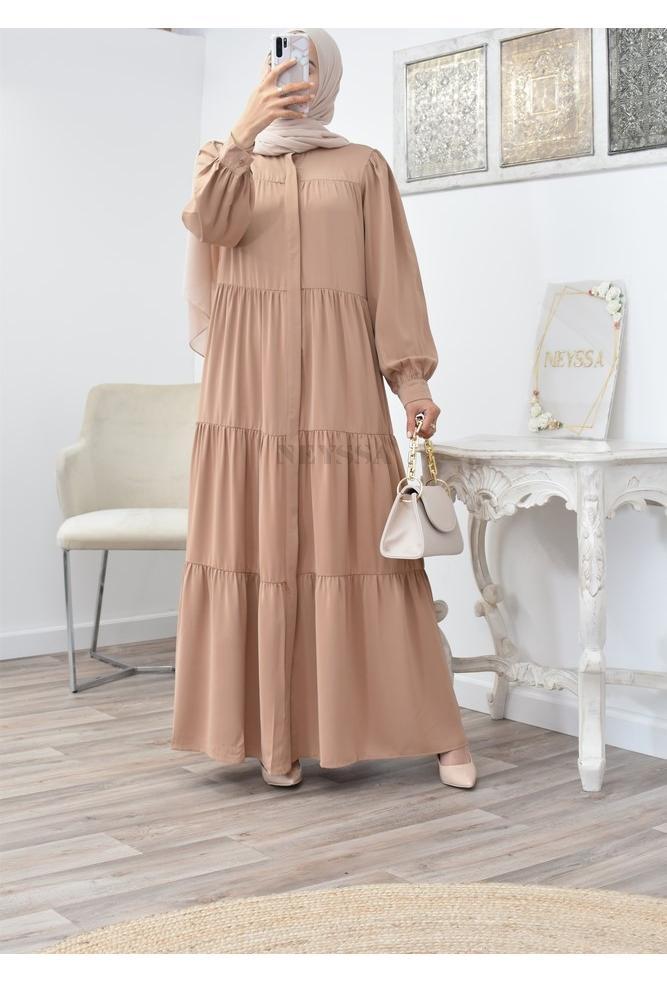 Long bohemian flared dress perfect for veiled women spring/summer